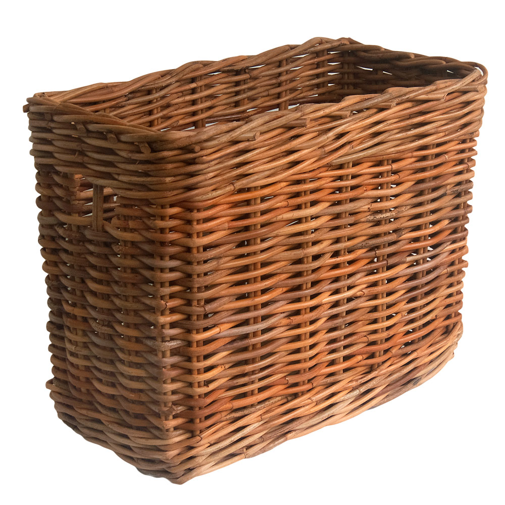 Tall Narrow Wicker Storage Basket
