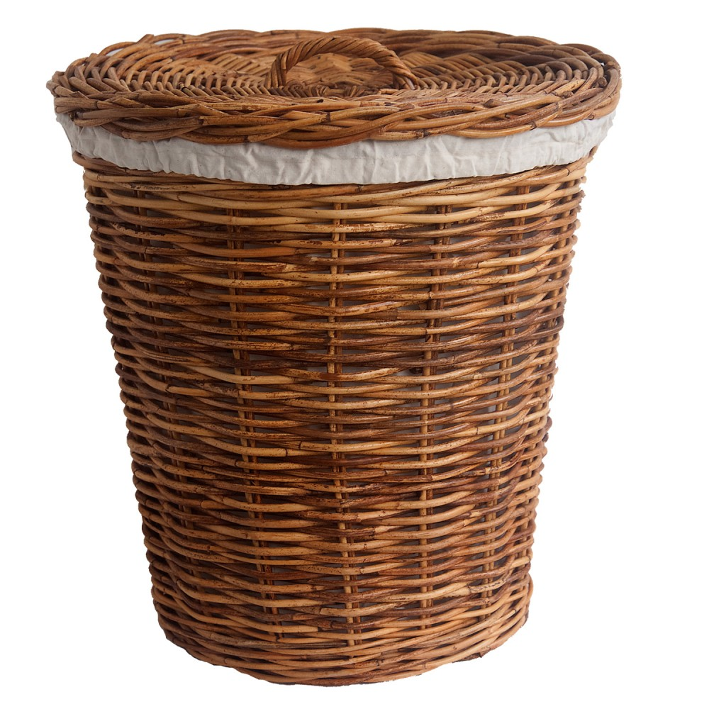 Laundry Basket With Calico Liner In 2 Sizes Kosmopolitan