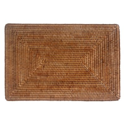 Rattan Placemats And Matching Coasters