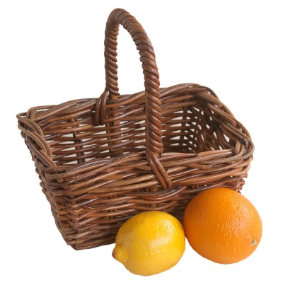 Small Oblong Rattan Gift Basket