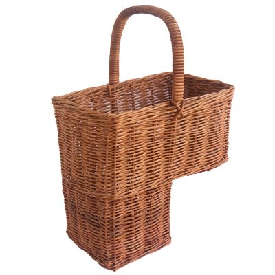 wicker stair basket