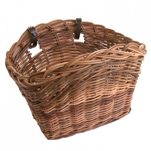 Traditional Wicker Bike Basket made from Rattan