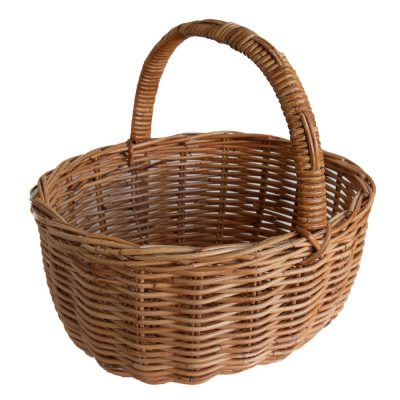 Oval Wicker Shopping Basket