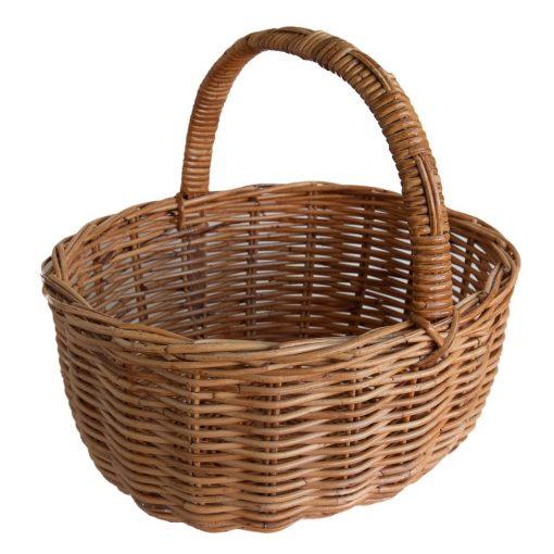 Oval Wicker Shopping Basket