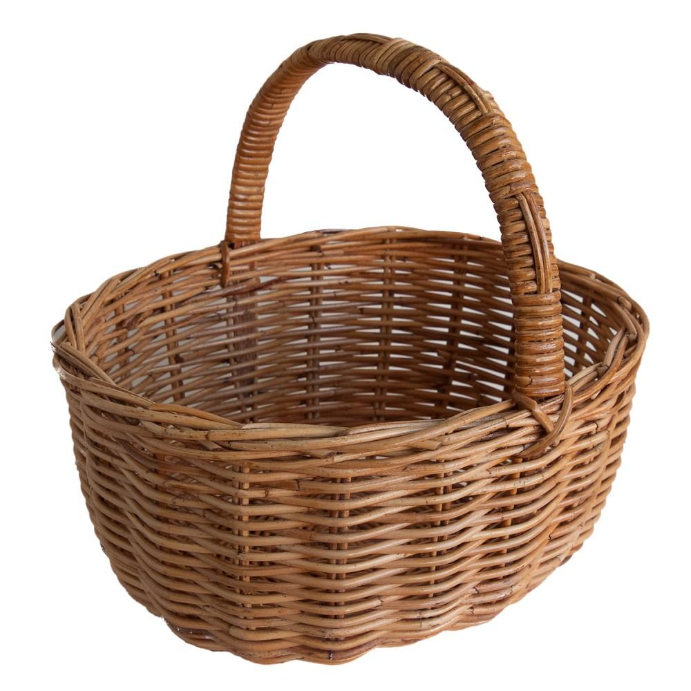 Classic Oval Wicker Shopping Basket