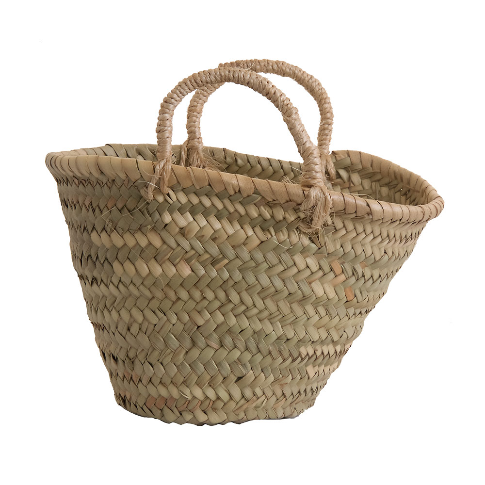Child's shopping basket with sisal handles