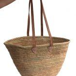 long handled french shopping basket