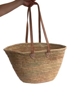 long handled french shopping basket
