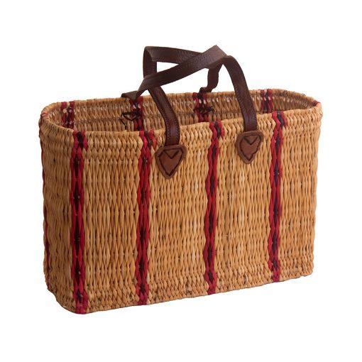 Striped Bulrush Shopping Basket