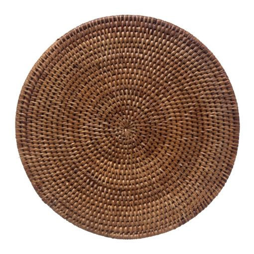 Round Rattan Placemats from Myanmar