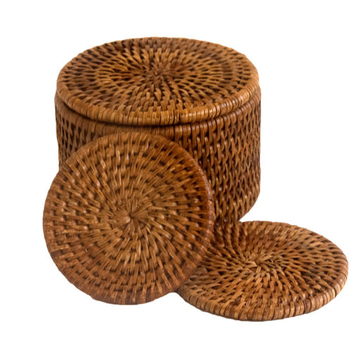 Six Round Coasters in Box