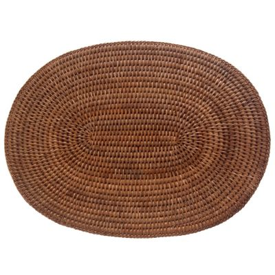 Set of Oval Woven Rattan Placemats