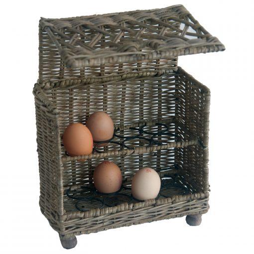 Rattan 16 egg holder
