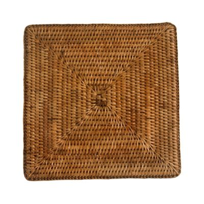 Set of Square Woven Rattan Placemats