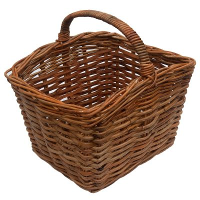 Oblong Handled Log Basket