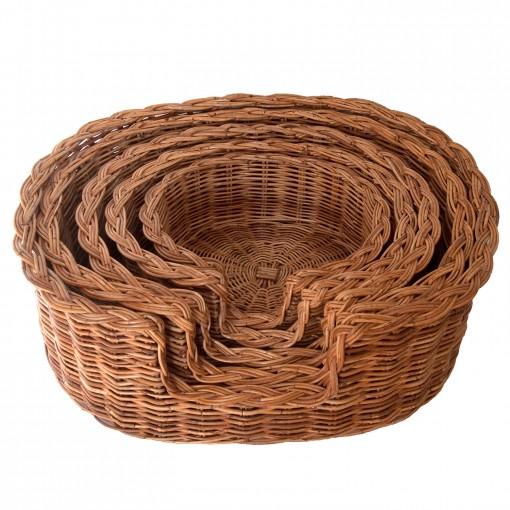 Wicker Dog Baskets in 5 sizes
