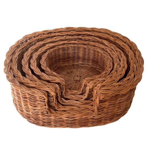 Classic Wicker Dog Basket in 5 Sizes