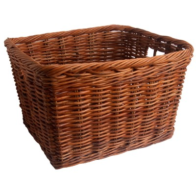 Oblong Wicker log storage basket