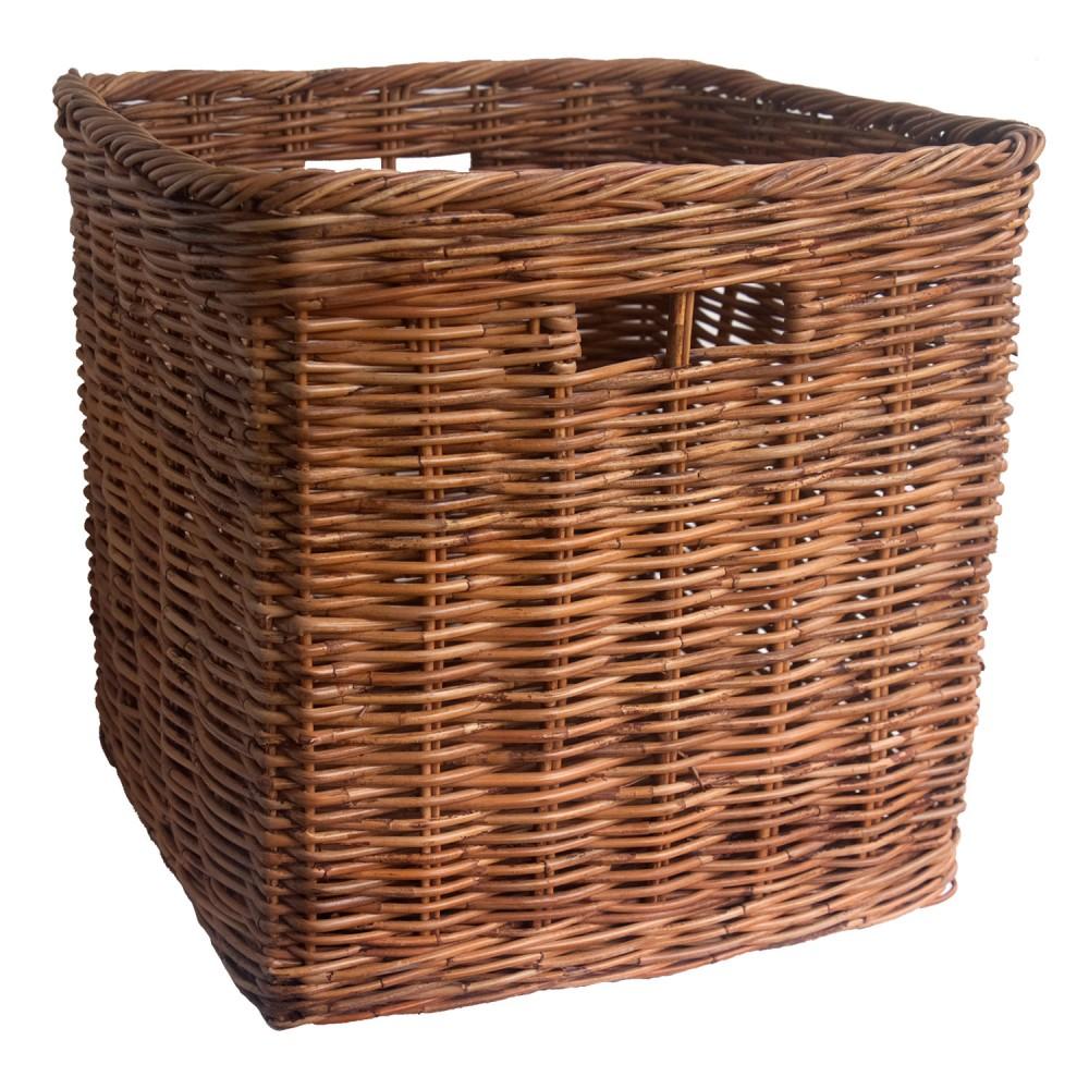 square log basket. Black Bedroom Furniture Sets. Home Design Ideas