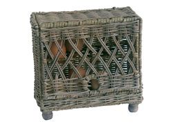 wicker egg storage basket