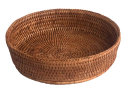 Round Rattan Fruit Bowl or Oven Dish Holder