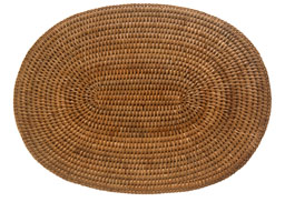 oval rattan table mat