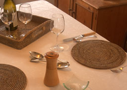 Round Grey Placemats