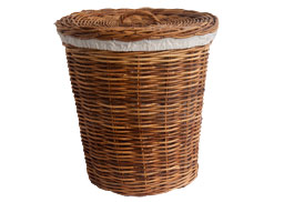 classic wicker laundry basket