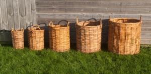 rattan log basket