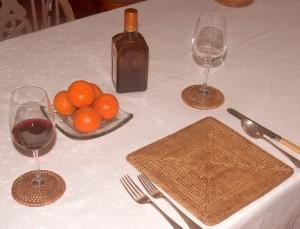 rattan table mats