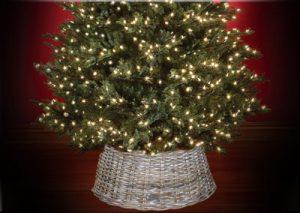 Wicker Christmas Tree Skirt