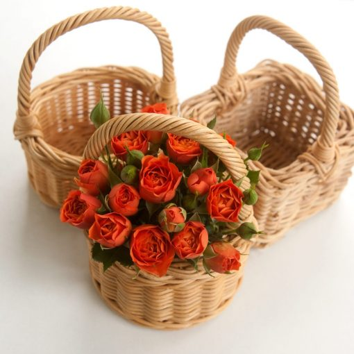 bridesmaid flower basket