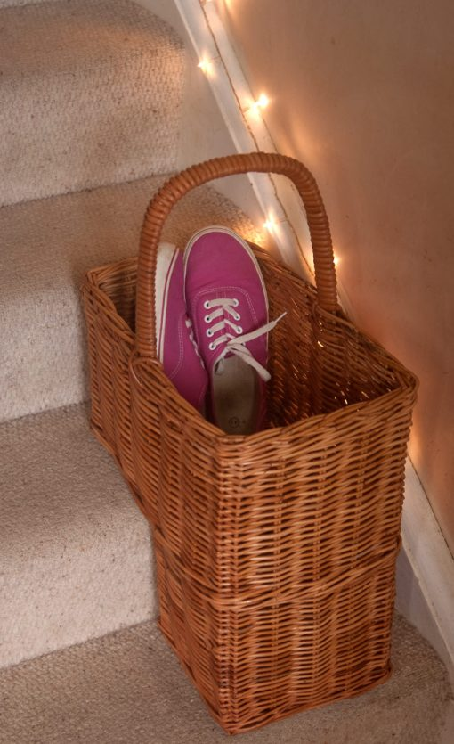 rattan basket for stairs
