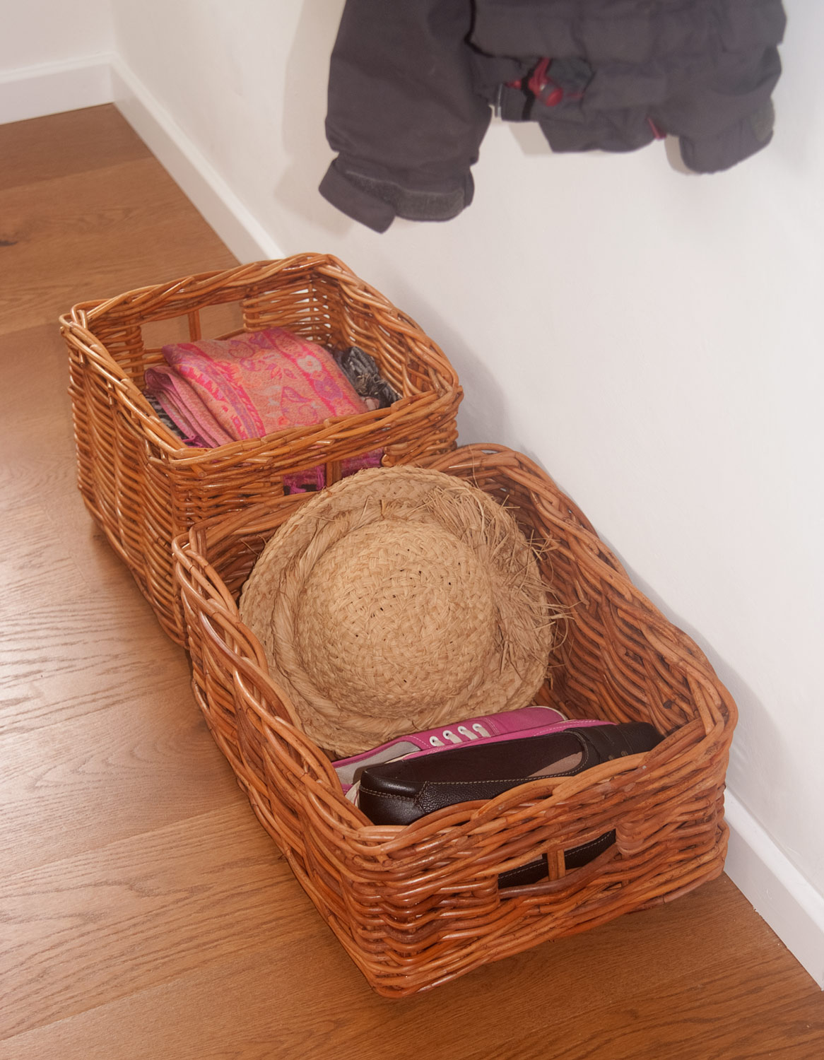 square and oblong storage baskets
