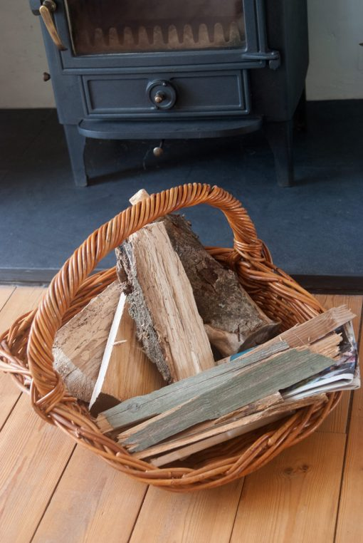 wicker log trug