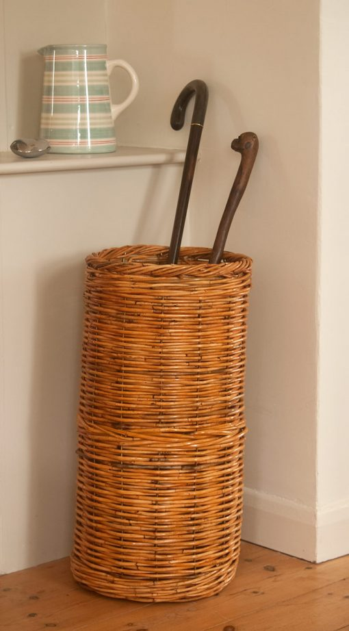 wicker walking stick basket