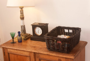 oblong blackwash storage baskets