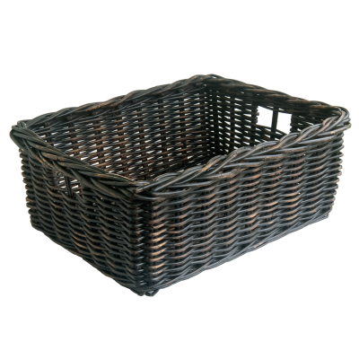 Black Wicker Storage Baskets