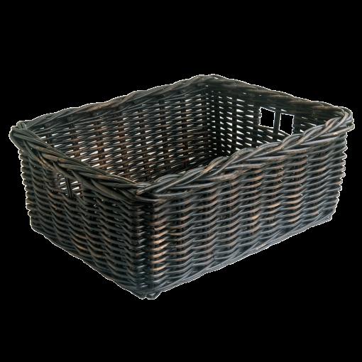 Black Wicker Storage Baskets