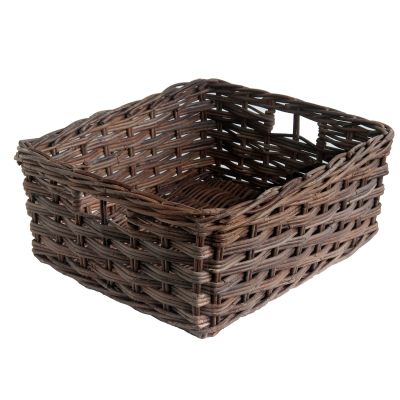 Oblong Croco Rattan Storage