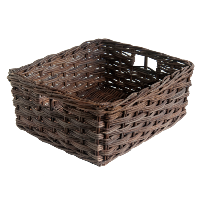 Set 4 Oblong Croco Storage Baskets