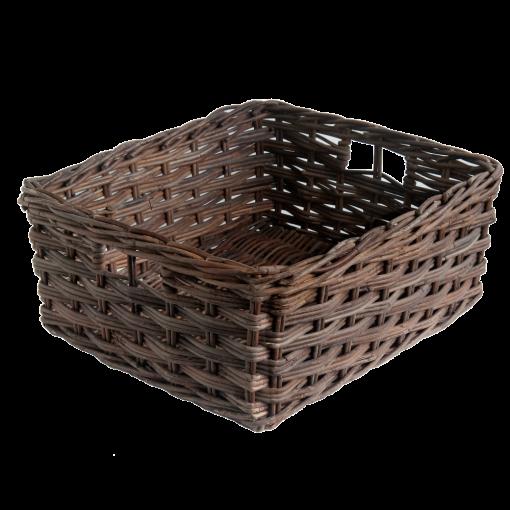 Set 4 Oblong Croco Storage Baskets