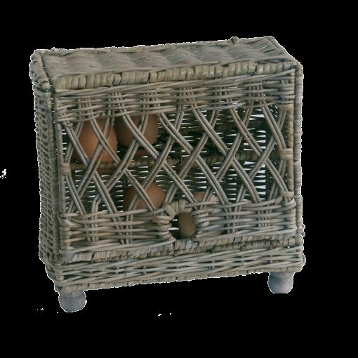 Grey Wicker Egg storage Basket for 16 eggs
