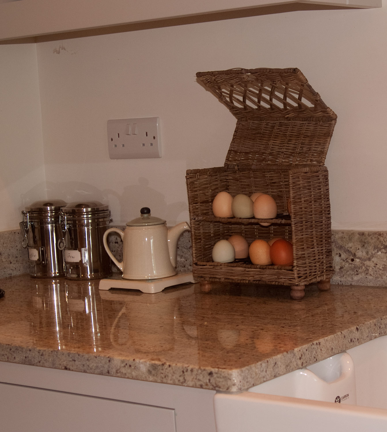 Rattan Egg Storage Basket