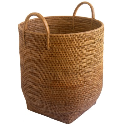 tall round wicker storage from Burma