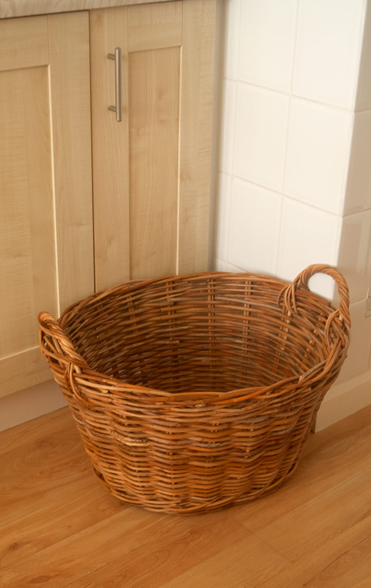 dirty laundry basket