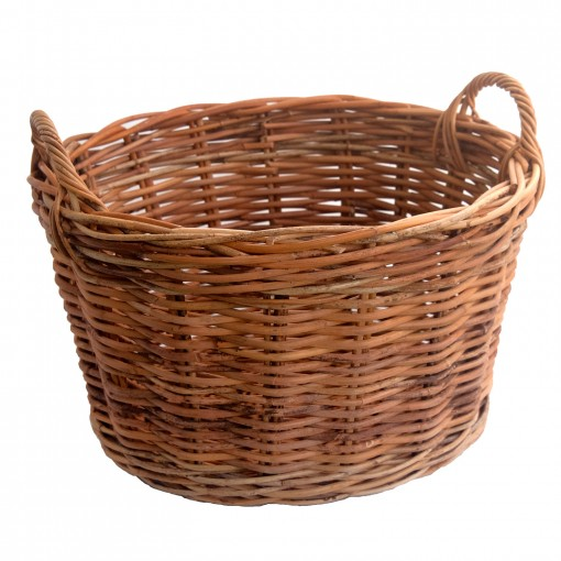 Small Rattan Clothes Basket