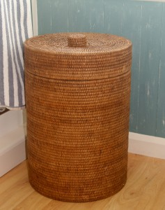 wicker laundry bin Burma