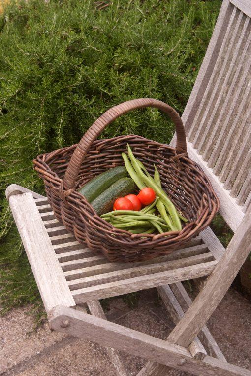 rattan garden trug