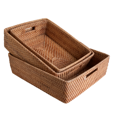Oblong rattan trays